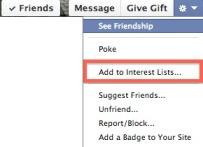 interest lists